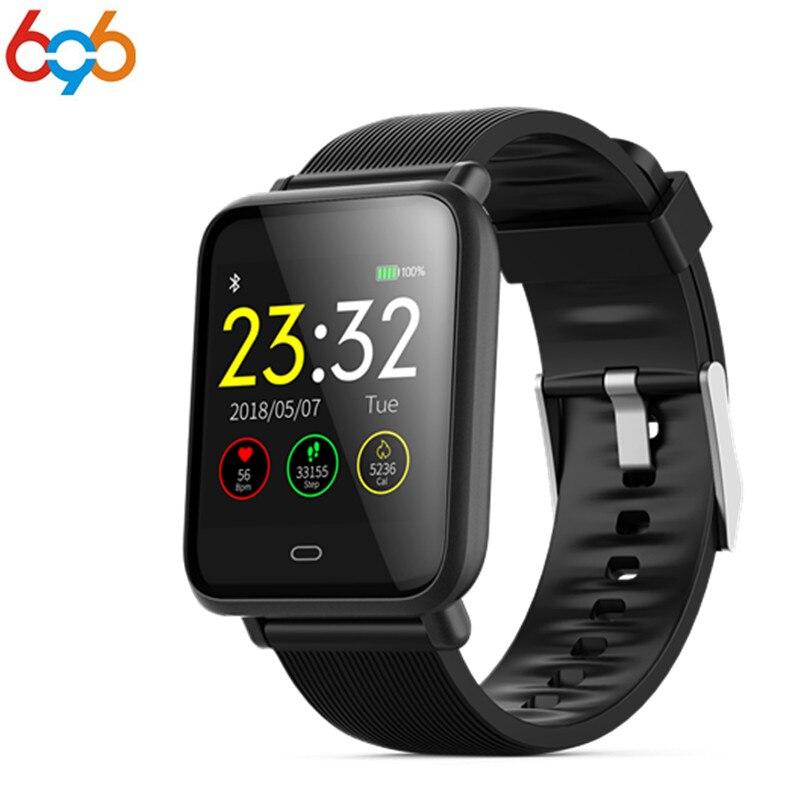 696 Smartwatch Q9 with heart rate monitor blood pressure smart watch for men women ladies girls support WhatsApp Facebook PK MI умные часы smart watch y1