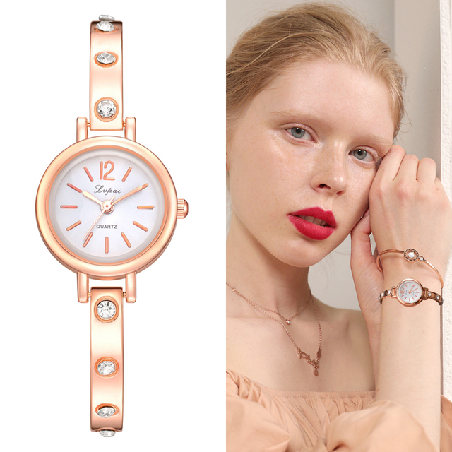 Lvpai New Fashion Rhinestone Watches Women Luxury Brand Bracelet Watches Ladies