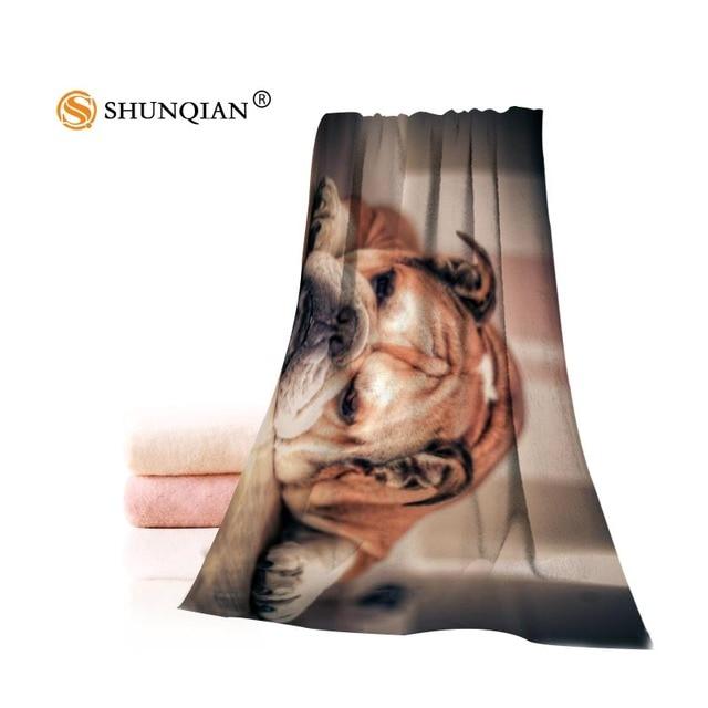 Fulvo personalizado filhote de Cachorro Bulldog Toalhinha Swimwear touca de Banho  Toalha de Praia Toalha de a0523229f46