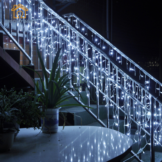 connectable 35m and 5m led curtain icicle string lights christmas lamps icicle lights home garden