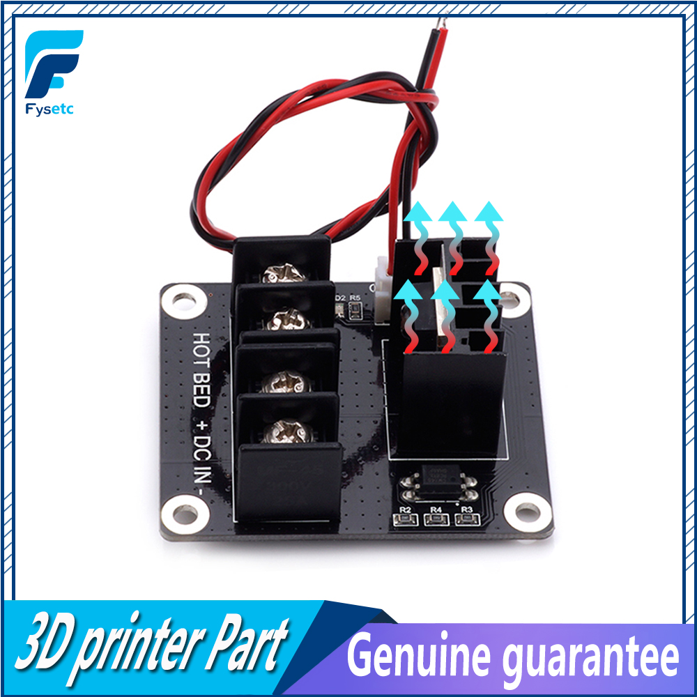 3D Printer Heated Bed Power Module /Hotbed MOSFET Expansion Module Inc 2pin Lead With Cable For Anet A8 A6 A2 Ramps 1.4