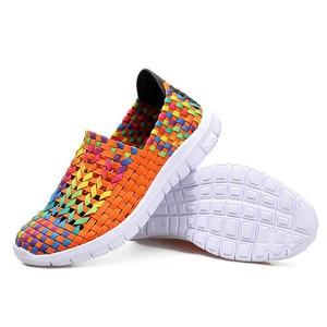 Image 5 - BEYARNESummer rahat ayakkabılar kadın için 2019 yeni kadın ayakkabısı el yapımı anne dokuma ShoesBreathable loaferlar üzerinde kayma FemaleFlatsE406