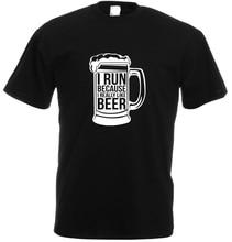 """I Run Because I Really Like Beer"" men's shirt"