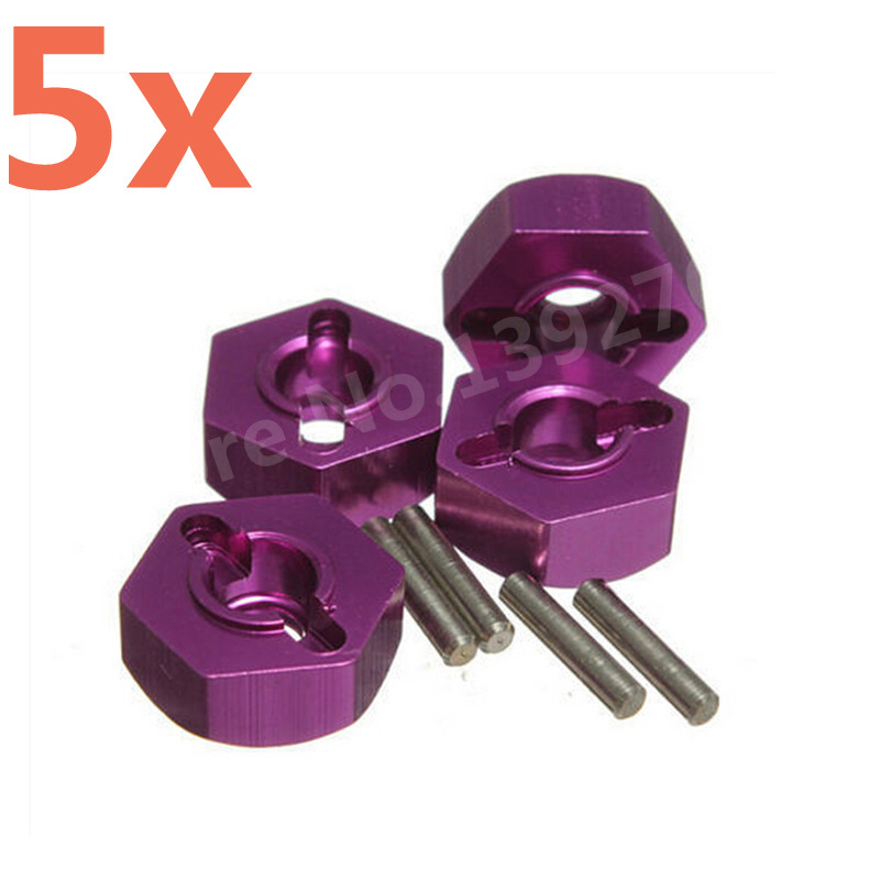 Wholesale 5Packs/Lot 4Pcs/Pack HSP Aluminum Wheel Hex Nut 12mm 102042 (02134) Upgrade Parts For 1/10th 4WD R/C Hitmoto Redcat