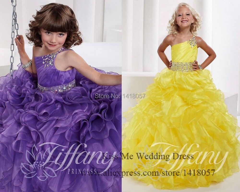 Perfecto Vestidos De Dama Niñas Púrpura Ideas Ornamento Elaboración ...