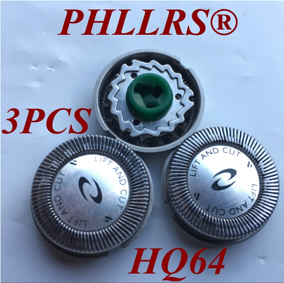 3pcs HQ64 Replacement Head Blade For Philips Electric Shaver  HQ54 HQ6070 HQ6073 HQ7310 PT710 HQ7325 HQ7340 PT715 PT725 PT720