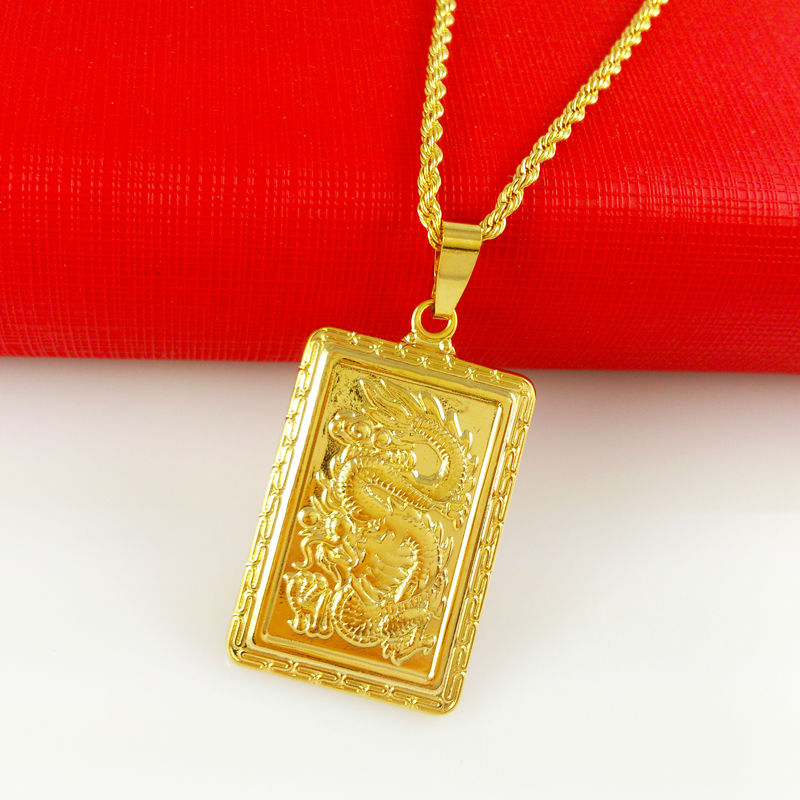 Wholesale super deal new arrival fashion jewelry dragons necklace wholesale super deal new arrival fashion jewelry dragons necklace pendant 24k gold necklace for women and men jewelry hja063 in pendant necklaces from aloadofball Images