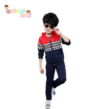 2016 New Arrrival Brand New Long Sleeve Clothes Pants Boys Suit Children Clothes Sets Boy and Girl Hooded Clothing Sets