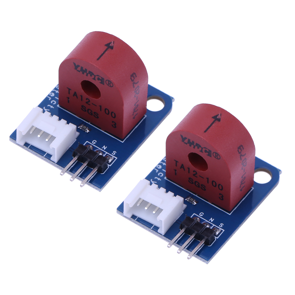 2Pcs 0-5A Analog Current Meter AC Ammeter Sensor Board 3PIN 5V I/O port electricity Sensor Brick module for Arduino UNO PIC itead acs712 current sensor module dc ┬▒ 5a ac current detection module works w official arduino