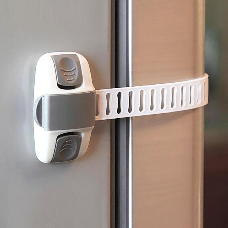8Pcs Baby Safety Lock Kids Care Drawer Lock Security Latches Children Locking Doors For Children's Safety Kids Plastic Lock