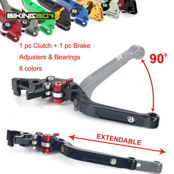 Adjustable Extendable Folding Clutch Brake Levers for YAMAHA MT-03 10 11 12 13 14 15 16 TDM 900 04 05 06 07 08 BT 1100 Bulldog