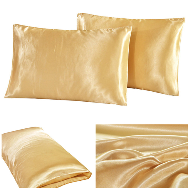 2 pcs Silk Pillowcase Envelope Closure US STAND US QUEEN US KING