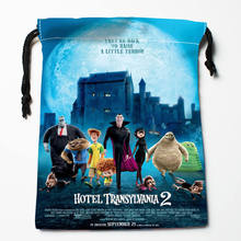 Custom Hotel Transylvania printed Satin storage bag drawstring gift bags More Size storage custom your image 27x35cm