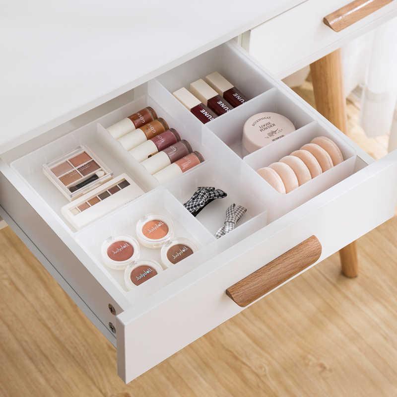 Ayarlanabilir çekmece stil makyaj saklama kutusu plastik eşyalar kozmetik konteyner bölücü masaüstü çeşitli eşyalar koku bitirme kutusu