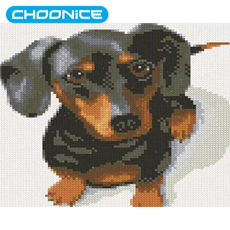 Diamond Painting Dachshund Brown Dog Painting DIY 3D Diamond Embroidery Diamond Painting Pokemon Needlework Mosaic Drawings
