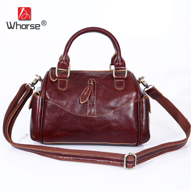 Top Quality Vintage Casual Pillow Bag Real Cowhide Womens Genuine Leather Small Handbag Shoulder Messenger Bags Women W092146