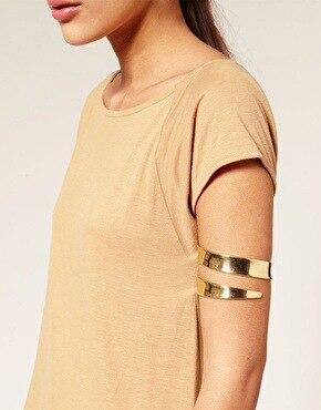 Frauen Mode Punk Swirl Open Oberarm Manschette Armband Armreif