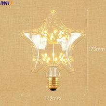 IWHD Star E27 220V 3W LED Bombillas Vintage Bulb Light Lampada Edison Retro Lamp Decorative St64 G95 G80 St58 T10 T185 T30