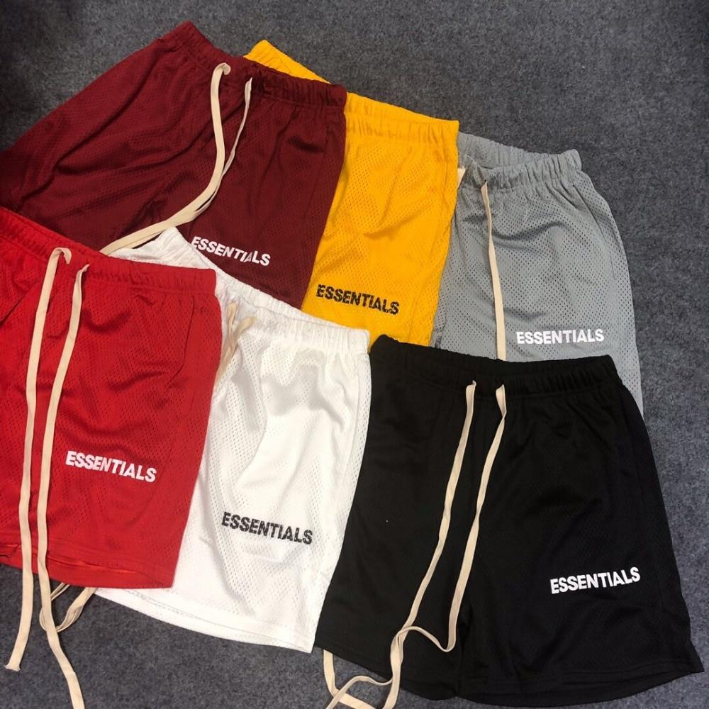 Men And Women Drawstring Essentials Mesh Shorts