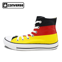 Mens Womens Converse All Star Germany Flag Original Design Hand Painted Custom High Top Man Wioman Sneakers Unique Gifts