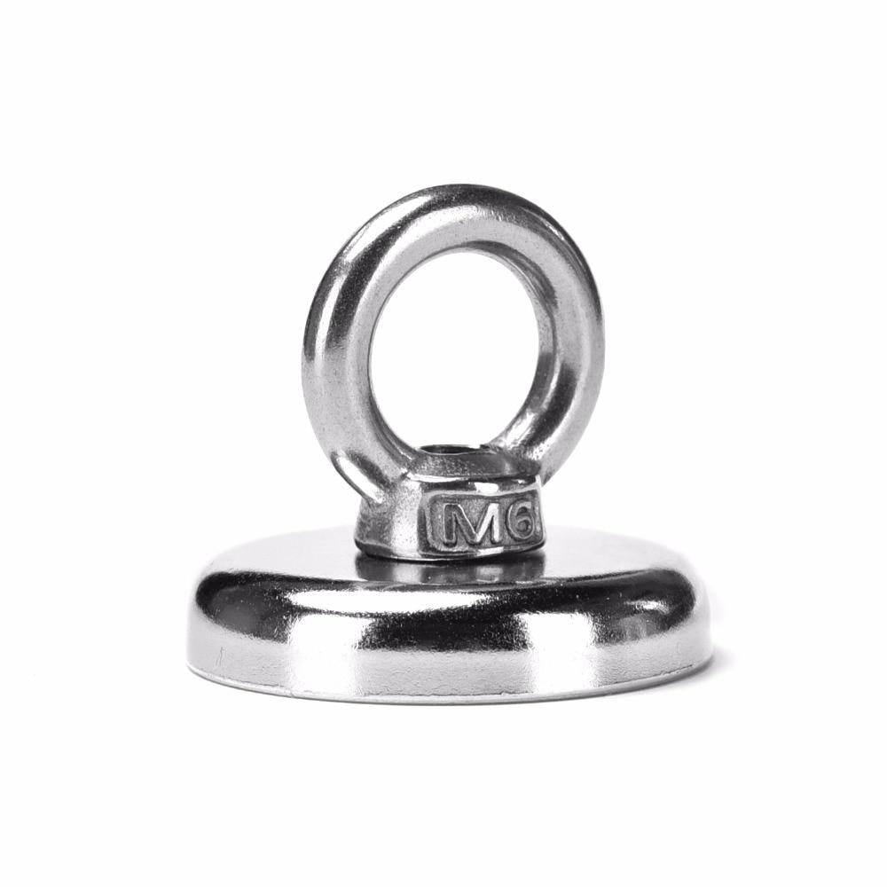 1 шт. поднимет 25 кг потянув за ручку. D36mm сильный мощный неодимовый магнит. Магнит с ручкой-кольцом можно открутить.