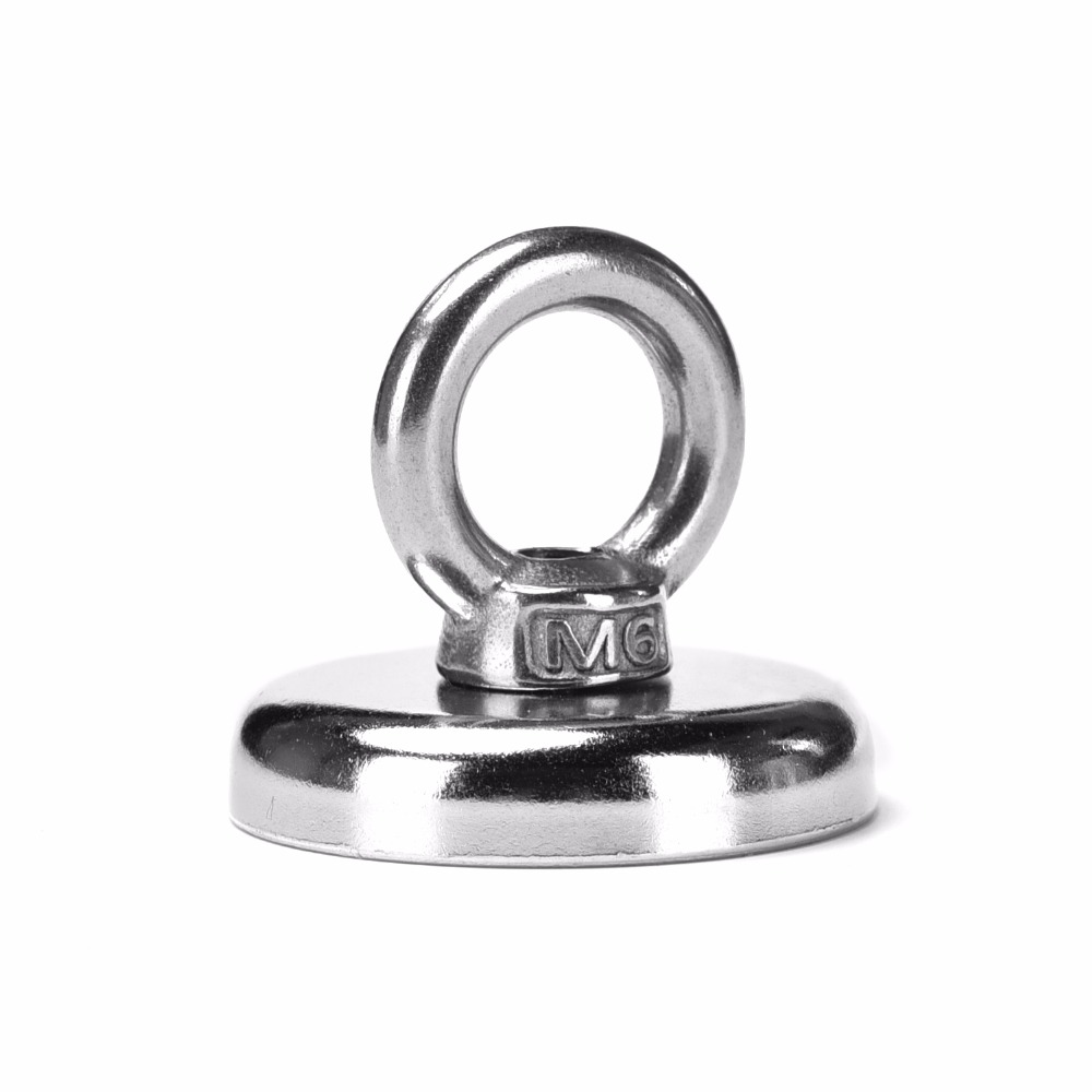 1pc 25kg Pulling Mounting D36mm strong powerful neodymium Magnetic Pot with ring fishing gear, deap sea salvage equipmentsD36mm