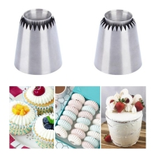 Stainless steel Sultan Ring Cookies Mold Piping Nozzles Russian Icing Set cake decorating tools