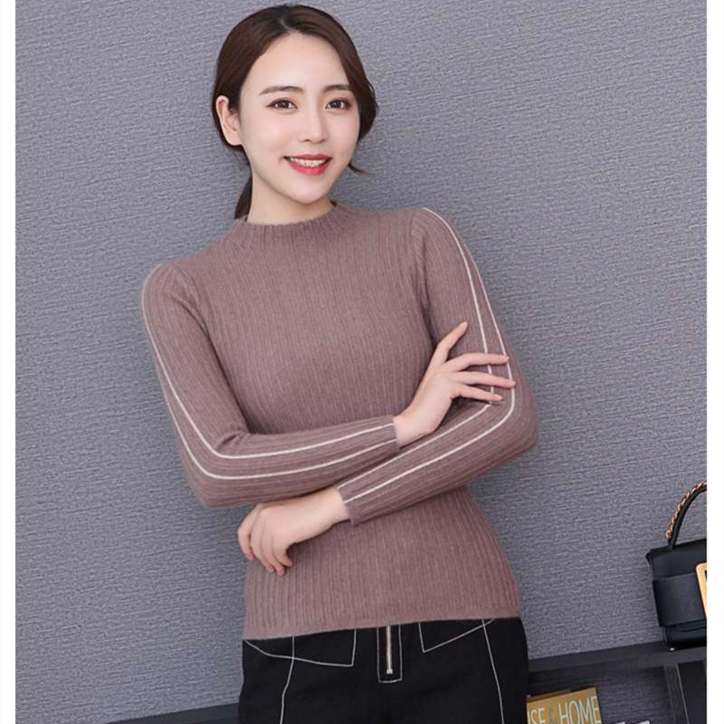 Lhzsyy Autumn Winter New Women's 100%Pure Cashmere Sweater 2019 Slim O Neck Knit Short High-Grade Pullover Warm Bottoming Shirt