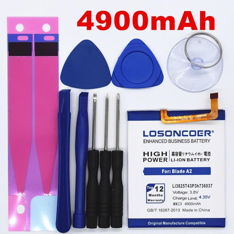 LOSONCOER Blade Sim-Battery Li3825t43p3h736037 Bv0720/zte 100%Original V7-Lite 4900mah
