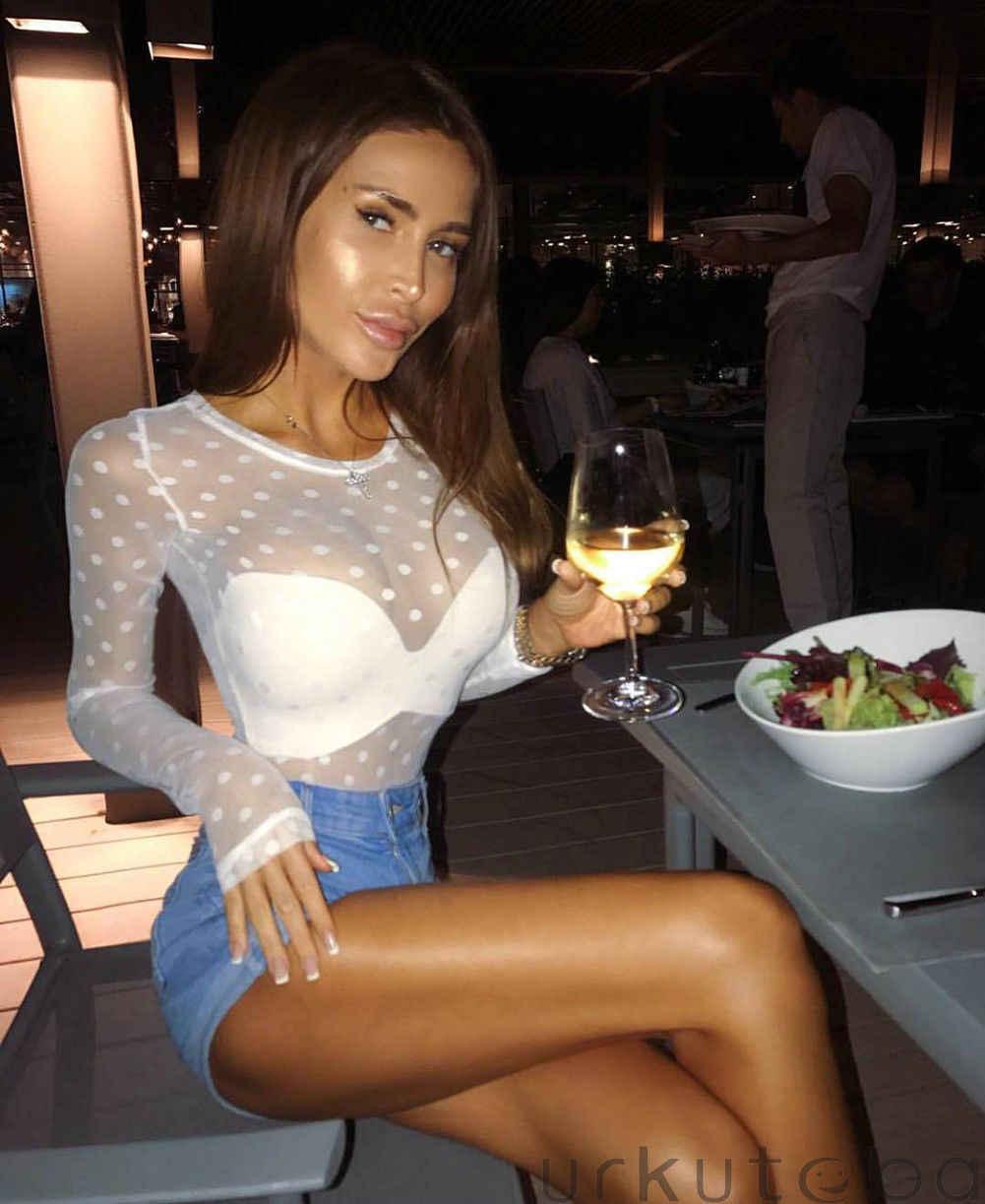 Mode Mesh Blouse Lange Mouw vrouwen Polka Dot Crew Hals Womens Tops En Blouses Sexy Sheer Shirt Hot
