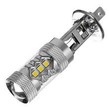 Противотуманный светильник, лампа для вождения H1/9006/H8 3030, лампочка LEDx16 80 Вт DC12-24V 1450LM, Белый 1156/BA15S, головной светильник