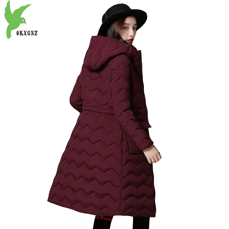 New Women Winter Jacket Coats cotton Parkas Fashion Hooded Students Jackets Plus size Medium length Thick warm parkas OKXGNZ1143 winter women denim jacket flocking coats new fashion hooded cotton parkas plus size jackets female warm casual outerwear l384