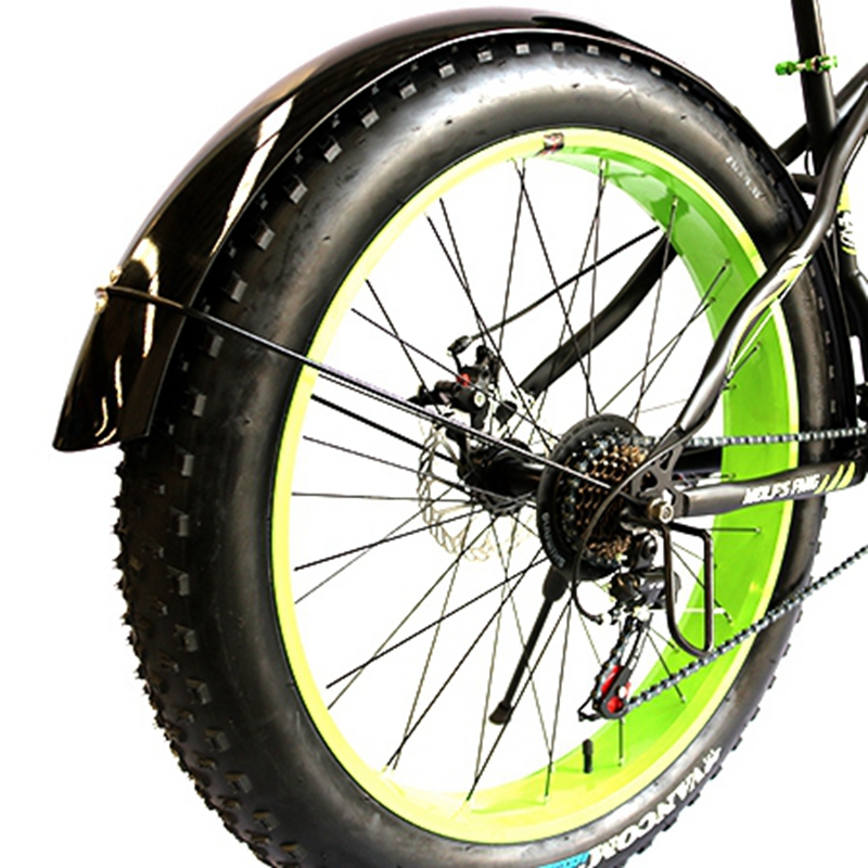 Bicicleta de Estrada Acessórios de Bicicletas de Velocidade Neve Gordura Lobo Fang Bicicleta Mountain Bike 26 4.0 Fender Cobertura Completa Novo Produto Frete Grátis