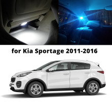 WLJH 9pcs Pure White Ice Car LED Lamp Bulbs Map Dome Trunk License Plate Light Interior Package Kit For 2011 - 2016 Kia Sportage(China)