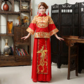 Bride Fall and Winter Clothes Chinese Dress Retro Toast Clothing Wedding Dress Dragon and Phoenix Gown Happy Marriage Clothes