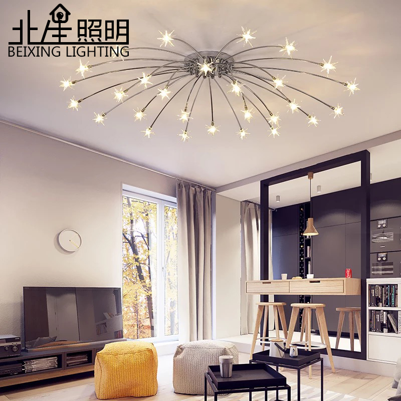 цена на Modern K9 Crystal LED Flush Mount Ceiling Chandelier Lights Fixture Gold Black Home Lamps for Living Room Bedroom Kitchen