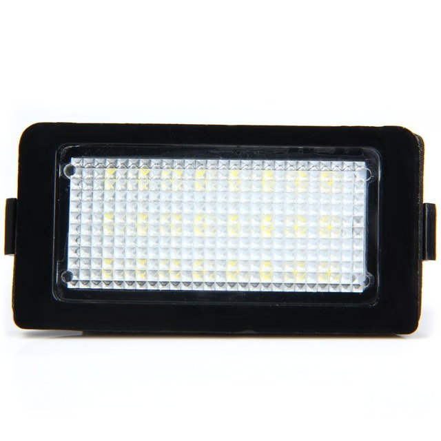 Hot sale Car Auto License Plate Lamp Vehicle External Lights SMD 3528 LED White Light 1.8W 18 LEDs Number Suitable for BMW E38