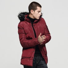 Fashion Winter Jackets Men Fur Collar Hooded Coats Casual Outwear Camouflage Thick Velvet Men Parka Long Trench Warm Down Jacket цены онлайн