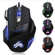 hot selling new cheap 7d wired usb optical gaming mouse led backlit mice 7 keys gamer pc computer