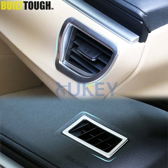 For Toyota Corolla Altis 2014 2015 2016 Chrome Front Air Vent Dashboard Outlet Cover Trim Frame Bezel Garnish Molding Surround