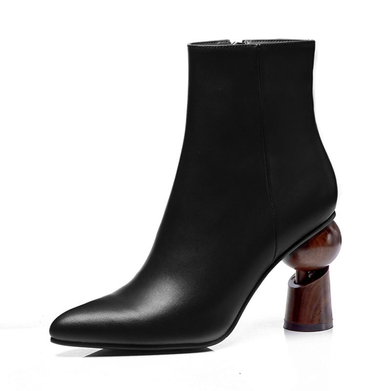 Women Boots Sexy Strange High Heels Short Boots for Women Classic Pointed Toe Slip on Shoes Women Fashion Autumn Ankle Boots
