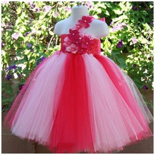 Children Girls Flower Baby Dress Girl Dresses Birthday Party Children Fantasy Princess Ball Gown Dress girl s formal dress 2018 flower wedding dresses kids gauze birthday evening party ball gown children s princess dress pink 2 13y