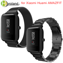 Strap for Xiaomi Huami Amazfit Bip Youth/Amazfit GTS Smart Watch 20mm Bracelet Wrist Band Milanese Loop Metal Stainless Steel 20mm 22mm stainless steel watch band for amazfit huami xiaomi pace bip metal strap quick release wrist loop belt bracelet black