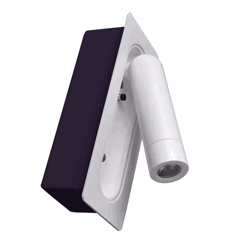 Topoch Flip-out Wall Light Retractable Matte White 3Watts LED AC100-240V DC 12V/24V Lamp Switch On When Opening