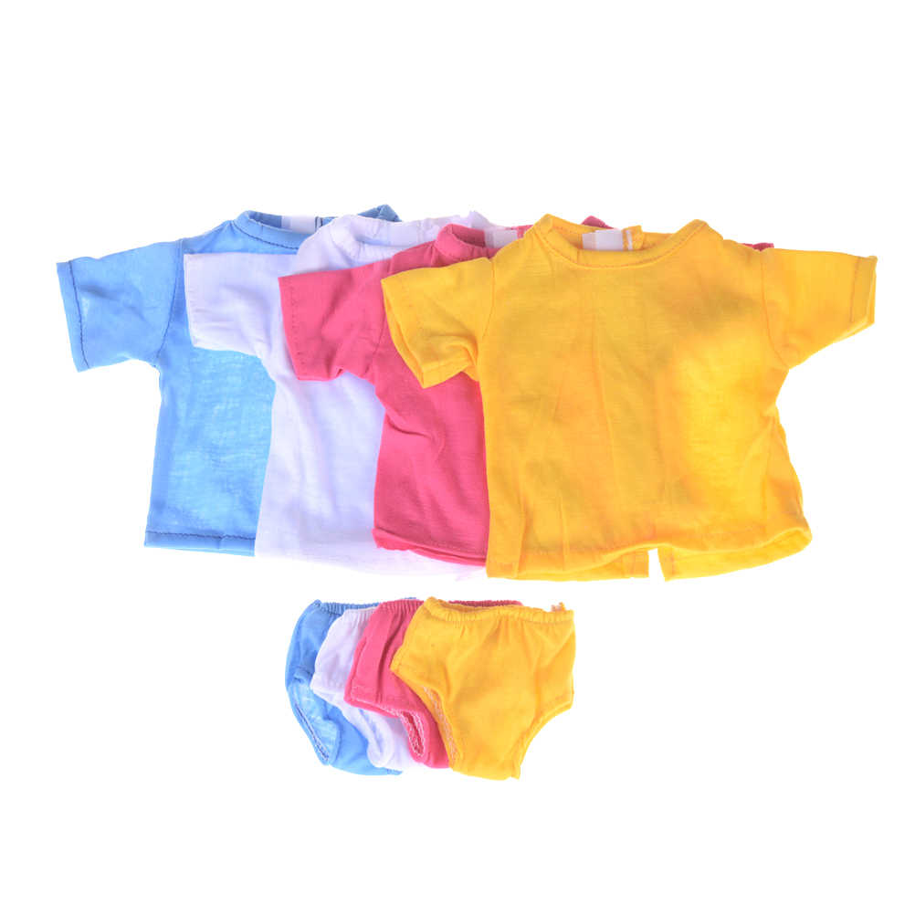1 Set Doll T-shirt Briefs Suit Jacket Suitable For 43 Cm Baby doll  18-inch Girl Shirt Doll Clothes Accessories