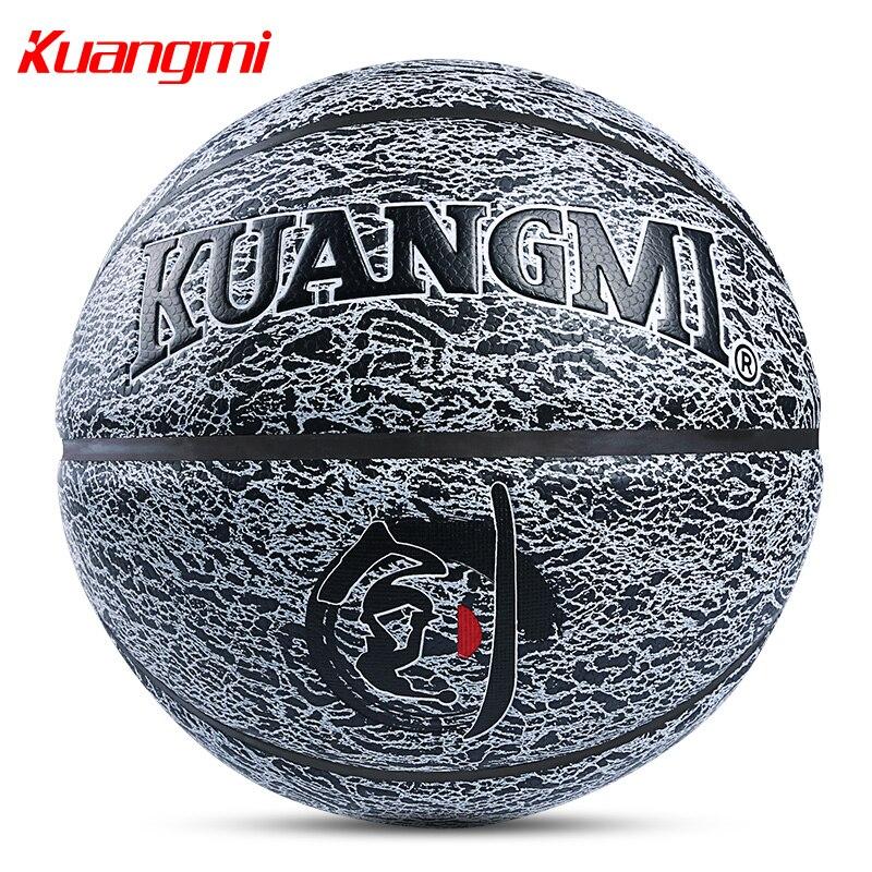Kuangmi баскетбольные мячи ПУ кожа официальный Размеры 7 Крытый открытый баскетбол мяч