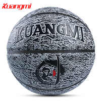 Kuangmi Basketballs PU Leather Official Size 7 Indoor Outdoor Basketball Ball