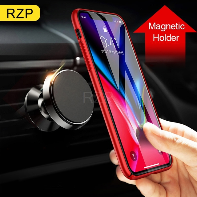 RZP Universal Magnetic Car Phone Holder Stand Bracket For iPhone Samsung Xiaomi Huawei Mobile Phone Stand GPS Car Styling Tools