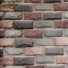 Beibehang Engrosamiento rústico de TELEVISIÓN de fondo de papel tapiz para paredes de ladrillo pared de ladrillo pared rollos de papel, Papel de parede infantil