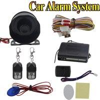 2019 großhandel 12 V 1-Weg Auto Alarm Schutz System mit 2 Fernbedienung Auto Einbrecher Auto Sicherheit Kits zubehör